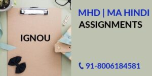 IGNOU MHD SOLVED ASSIGNMENT 2019-20 FREE Of cost