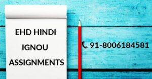 IGNOU EHD SOLVED ASSIGNMENT 2021-22