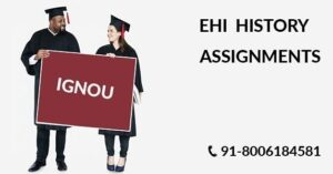 IGNOU EHI SOLVED ASSIGNMENT 2019-20
