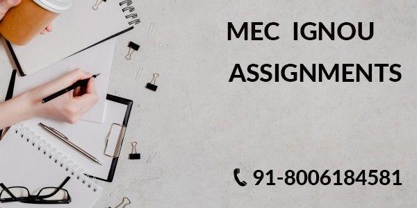 IGNOU MEC SOLVED ASSIGNMENTS 2021-22 - KUNJ PUBLICATION