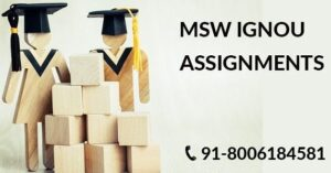 IGNOU MSW SOLVED ASSIGNMENT 2021-22