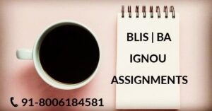 IGNOU BLIS SOLVED ASSIGNMENT 2019-20